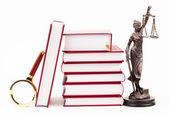 Libri e lente di ingrandimento — Foto Stock