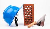 Espátula de tijolo e mason repairing — Foto Stock