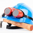 Red welder glasses — Stock Photo #30311501