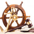 Marine law judge gavel — Stock Photo