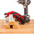 Wood mounting tools  — Stock Photo