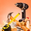 Wood mounting tools — Stockfoto