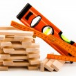 Wooden toy blocks with tools — Lizenzfreies Foto