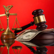 Judge gavel — Stock Photo