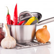 Cooking  vegetables composition — Stock Photo