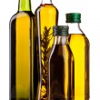 Olive oil and vinegar bottles — Stock Photo #37464319