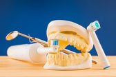 Dental care tools — Stock Photo