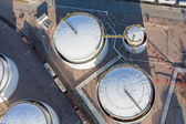 Aerial view of petrol industrial zone — Stock Photo
