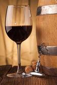 Corkscrew   and wine glass — Foto de Stock