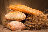 Assortment of baked bread — Stock Photo