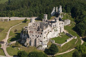 Aerial view of castle — Stock Photo