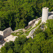 Aerial view of Pilica castle in Poland — Stock Photo