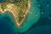 Aerial view of croatian island — Stock Photo