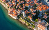 Aerial view of croatia coast line Rab island — Foto Stock