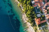 Aerial view of croatia coast line — Foto Stock