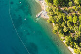 Aerial view of croatia coast line — Stock Photo