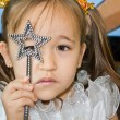 Little fairy with a magic wand — Stock Photo
