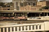 Train and railways — Stock Photo