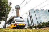 Dallas commuter trains — Stock Photo