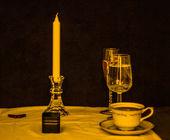 Wijn en dineren — Stockfoto