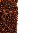 Stock Photo: Coffee beans background isolated white