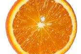 Half orange isolated on white — Stock Photo