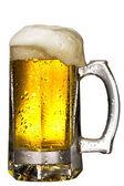 Mug of beer isolated on white — Stock Photo