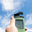 Stock Photo: Thermometer, anemometer and hygrometer