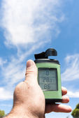Thermometer, anemometer and hygrometer — Stock Photo