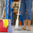 Cleaning business warehouse - Stock Photo