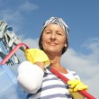 Spring cleaning woman outdoor — Stock Photo #13479230