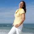 Fit active retirement woman outdoor — Stock Photo