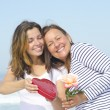 Love of Adult Mother and Daughter — Stock Photo