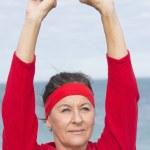 Active retirement sporty senior woman — Stock Photo