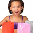 Diamond and gifts — Stock Photo