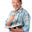 Stock Photo: Happy senior preacher