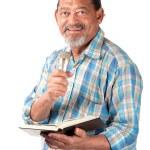 Happy senior preacher — Stock Photo