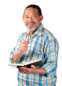 Happy senior preacher — Stock Photo