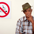 Rebel smoker — Stock Photo