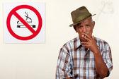 Rebel smoker — Stock Photo