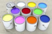 Latas de tinta — Fotografia Stock