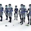 Robot Riot Police — Stock Photo