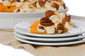 Sweet Potato with Marshmallows — Stock Photo