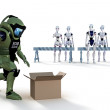 Robot Bomb Squad — Stock Photo