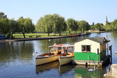 Boats on the River Avon — Stock Photo