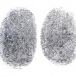 Black fingerprint — Stock Photo