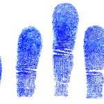 Blue fingerprint — Stock Photo #37810677