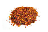 Dried and crushed red peppers — Stock Photo