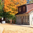 Stock Photo: Autumn in city of Kuldiga