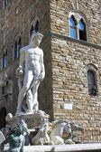 Фонтан Нептуна во Флоренции, Италия — Стоковое фото